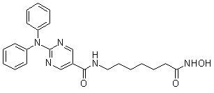 Ricolinostat (ACY-1215) 化学構造